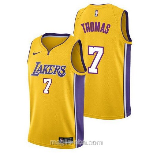 Maglia nba Los Angeles Lakers #7 Isaiah Thomas giallo
