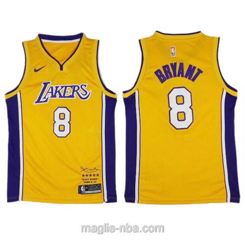 Maglia nba Los Angeles Lakers #8 Kobe Bryant giallo