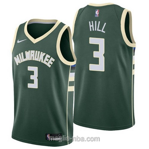 Maglia nba Milwaukee Bucks #3 George Hill verde