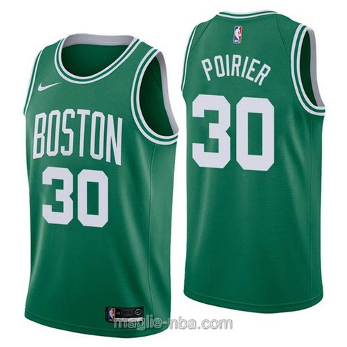 Maglia nba Nike Boston Celtics #30 Vincent Poirier verde