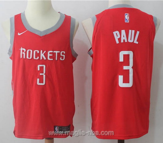 Maglia nba Nike Chris Paul #3 rosso Houston Rockets