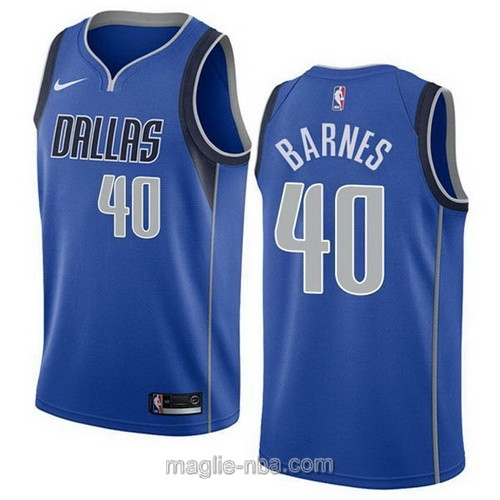 Maglia nba Nike Dallas Mavericks #40 Harrison Barnes blu