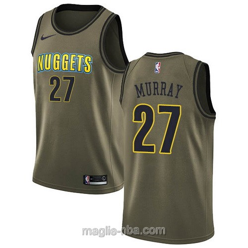 Maglia nba Nike Denver Nuggets #27 Jamal Murray 2018 verde