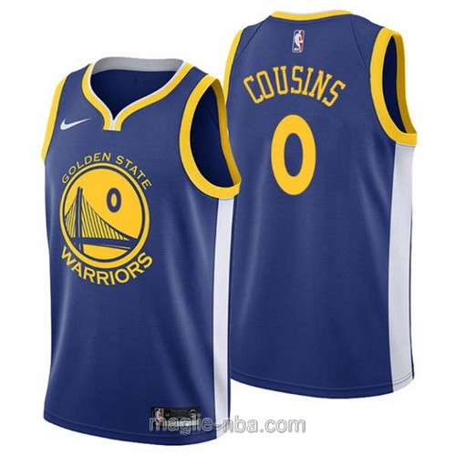 Maglia nba Nike Golden State Warriors #0 DeMarcus Cousins blu