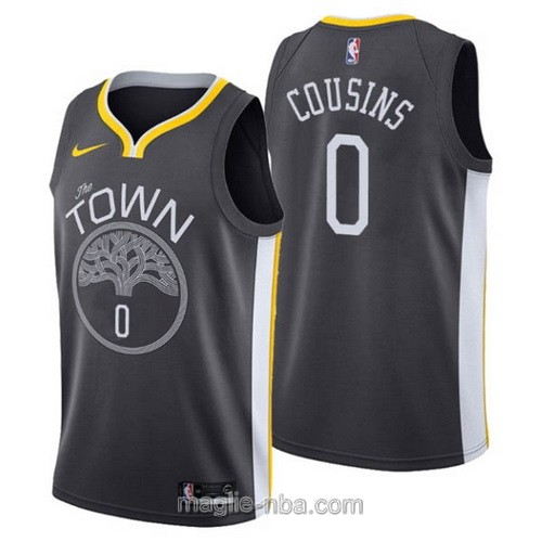 Maglia nba Nike Golden State Warriors #0 DeMarcus Cousins nero