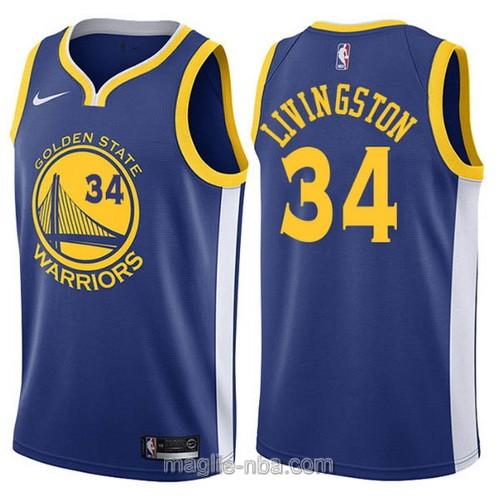 Maglia nba Nike Golden State Warriors #34 Shaun Livingston blu