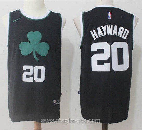 Maglia nba Nike Gordon Hayward #20 nero Boston Celtics