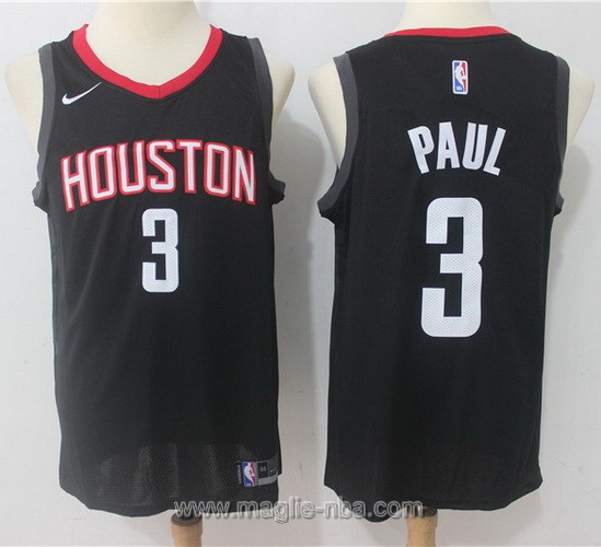 Maglia nba Nike Houston Rockets Chris Paul #3 2017 2018 nero