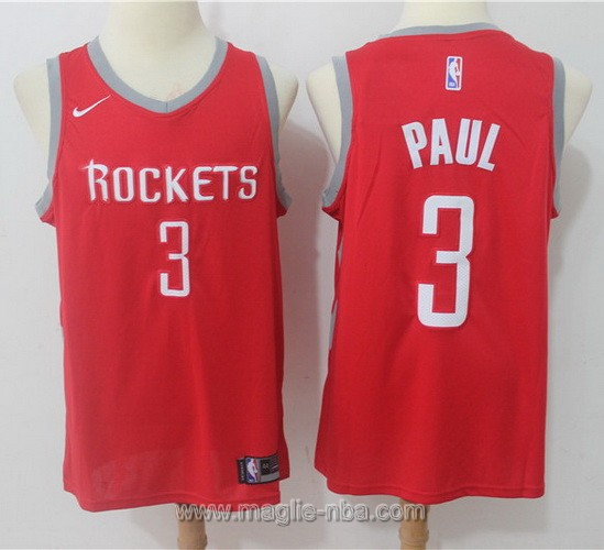 Maglia nba Nike Houston Rockets Chris Paul #3 2017 2018 rosso