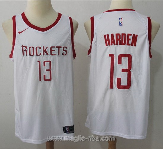 Maglia nba Nike Houston Rockets James Harden #13 2017 2018 bianco