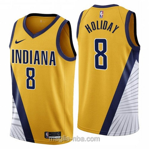 Maglia nba Nike Indiana Pacers #8 Justin Holiday 2019-20 giallo