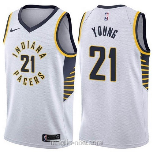 Maglia nba Nike Indiana Pacers #21 Thaddeus Young bianco