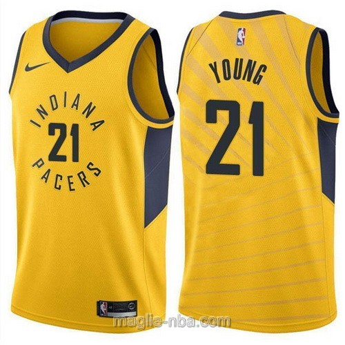 Maglia nba Nike Indiana Pacers #21 Thaddeus Young giallo