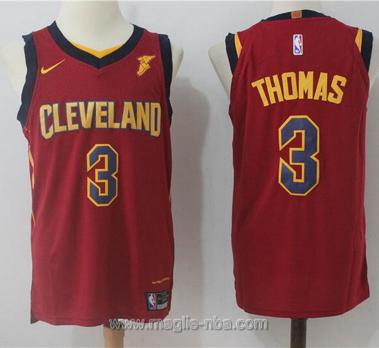 Maglia nba Nike Isaiah Thomas #3 Rosso scuro Cleveland Cavaliers