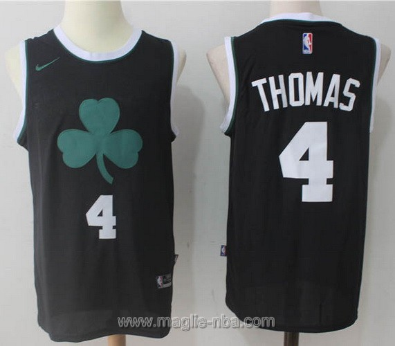 Maglia nba Nike Isaiah Thomas #4 nero Boston Celtics