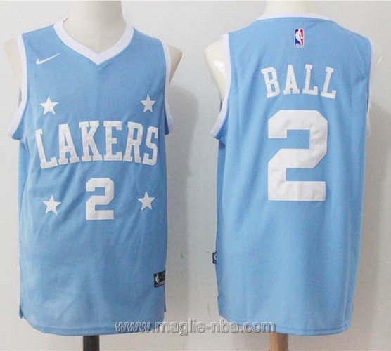 Maglia nba Nike Lonzo Ball #2 blu Los Angeles Lakers
