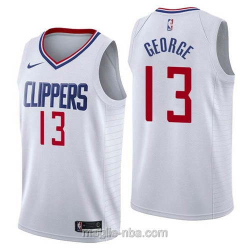 Maglia nba Nike Los Angeles Clippers #13 Paul George bianco