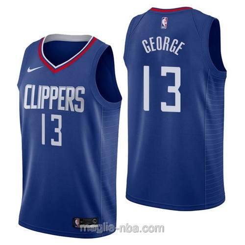 Maglia nba Nike Los Angeles Clippers #13 Paul George blu