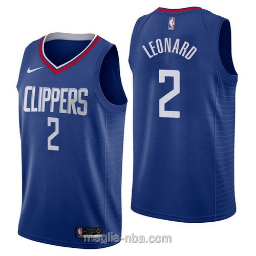 Maglia nba Nike Los Angeles Clippers #2 Kawhi Leonard blu