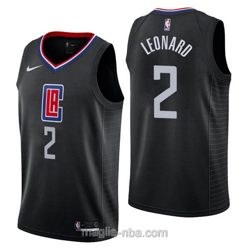 Maglia nba Nike Los Angeles Clippers #2 Kawhi Leonard nero