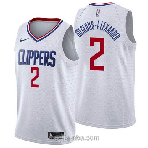 Maglia nba Nike Los Angeles Clippers #2 Shai Gilgeous-Alexander bianco