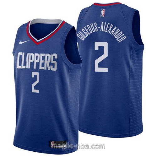 Maglia nba Nike Los Angeles Clippers #2 Shai Gilgeous-Alexander blu