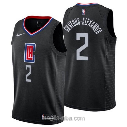 Maglia nba Nike Los Angeles Clippers #2 Shai Gilgeous-Alexander nero