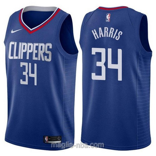 Maglia nba Nike Los Angeles Clippers #34 Tobias Harris blu scuro