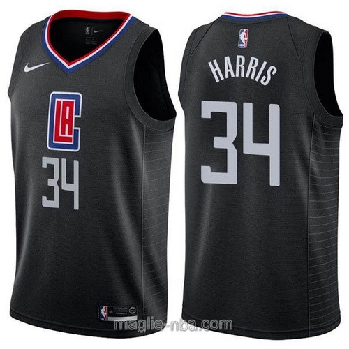 Maglia nba Nike Los Angeles Clippers #34 Tobias Harris nero