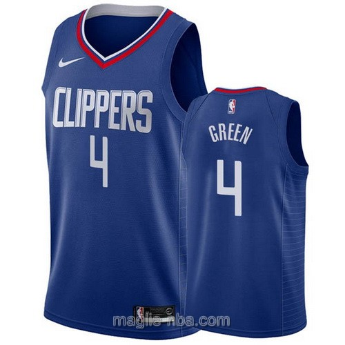 Maglia nba Nike Los Angeles Clippers #4 JaMychal Green blu