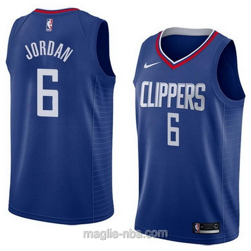 Maglia nba Nike Los Angeles Clippers #6 DeAndre Jordan blu scuro
