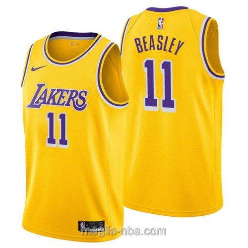 Maglia nba Nike Los Angeles Lakers #11 Michael Beasley giallo
