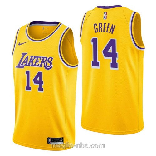 Maglia nba Nike Los Angeles Lakers #14 Danny Green giallo