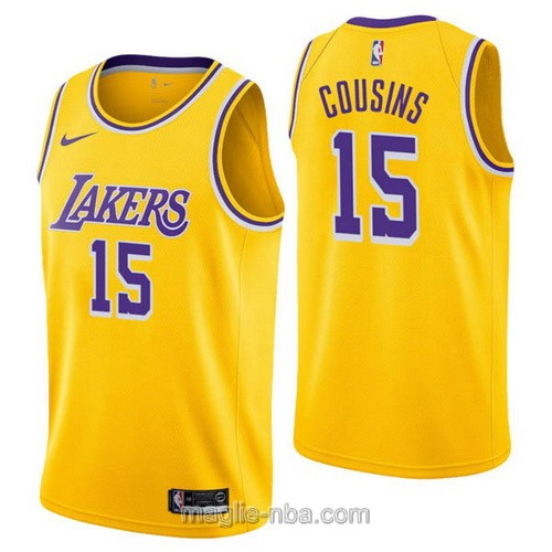 Maglia nba Nike Los Angeles Lakers #15 DeMarcus Cousins giallo