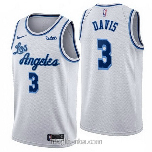 Maglia nba Nike Los Angeles Lakers #3 Anthony Davis Retro bianco