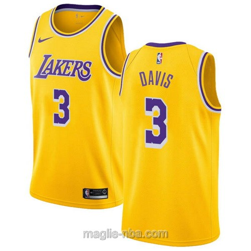 Maglia nba Nike Los Angeles Lakers #3 Anthony Davis giallo