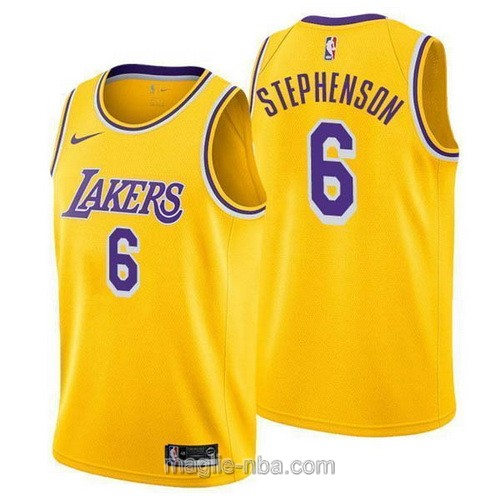 Maglia nba Nike Los Angeles Lakers #6 Lance Stephenson giallo
