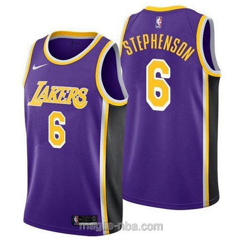 Maglia nba Nike Los Angeles Lakers #6 Lance Stephenson porpora