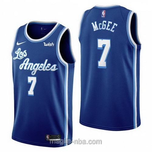 Maglia nba Nike Los Angeles Lakers #7 Javale Mcgee Retro blu