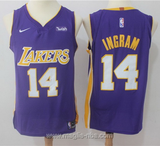 Maglia nba Nike Los Angeles Lakers #14 Brandon Ingram porpora