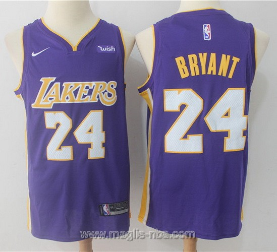 Maglia nba Nike Los Angeles Lakers #24 Kobe Bryant 2017 2018 porpora