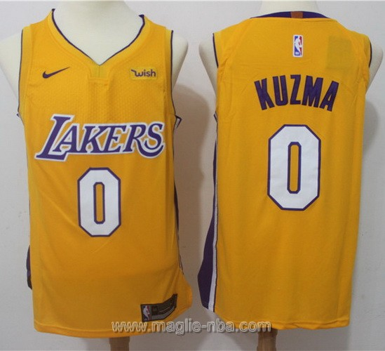 Maglia nba Nike Los Angeles Lakers #0 Kyle Kuzma giallo