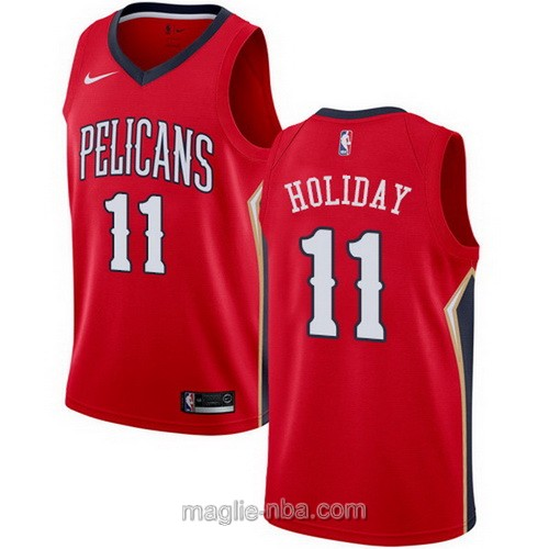 Maglia nba Nike New Orleans Pelicans #11 Jrue Holiday rosso