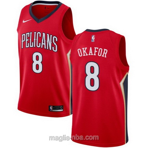 Maglia nba Nike New Orleans Pelicans #8 Jahlil Okafor rosso