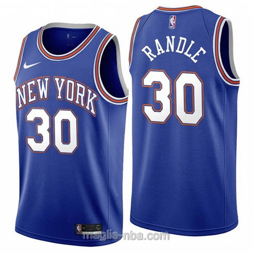 Maglia nba Nike New York Knicks #30 Julius Randle 2019-20 blu