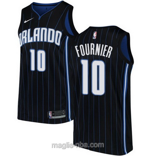 Maglia nba Nike Orlando Magic #10 Evan Fournier blu scuro