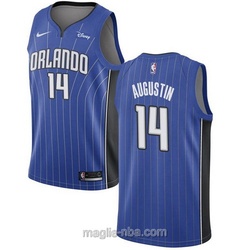 Maglia nba Nike Orlando Magic #14 D.J. Augustin blu