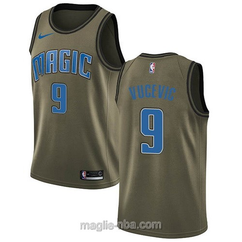 Maglia nba Nike Orlando Magic #9 Nikola Vucevic verde