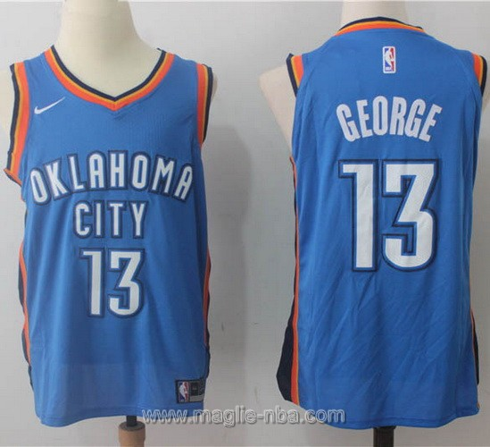 Maglia nba Nike Paul George #13 blu Oklahoma City Thunder