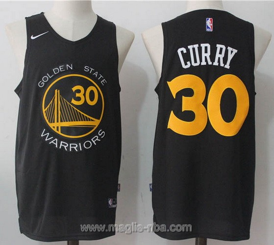 Maglia nba Nike Stephen Curry #30 nero Golden State Warriors